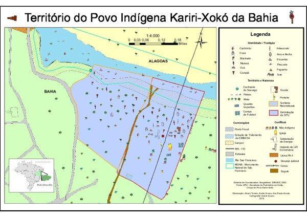 MAPA - Território do Povo Indígena Kariri-Xokó da Bahia
