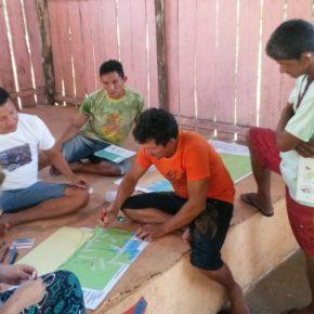 Oficina de Cartografia Social no Território Terra dos Encantados, Rio Arapiuns - Pará