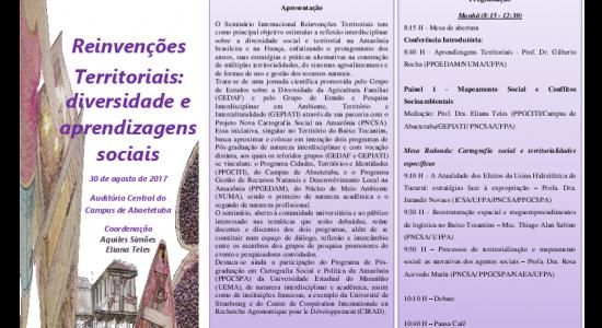 Seminário Internacional - Reinvenções Territoriais: diversidade e aprendizagens sociais - 30 de Agosto -