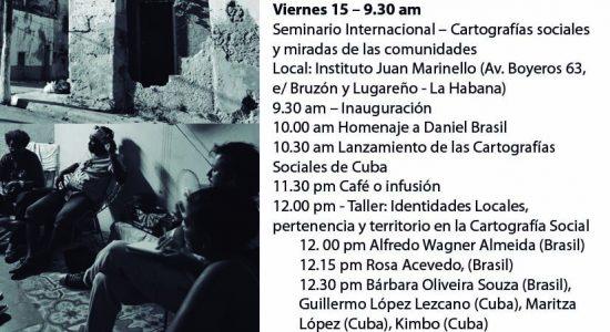 Jornada Cuba-Brasil Cartografías Sociales 14 al 16-09-2017 - Folder Programação