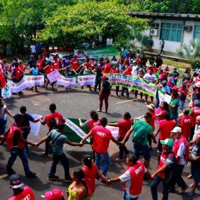 Manifestações de rua e ocupação do INCRA por  Trabalhadores rurais sem-terra, Quilombolas, Agricultores Familiares, em Belém, no dia 18 de outubro de 2017