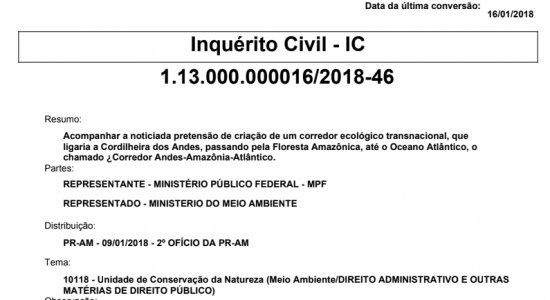 MPF instaura Inquérito Civil-IC