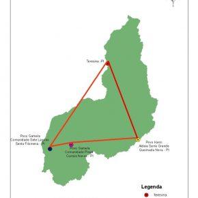 Equipe do Projeto Nova Cartografia Social realiza trabalho de campo entre os indígenas Gamela e Kariri, no Piauí