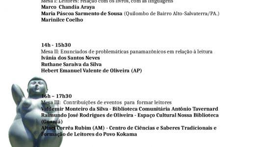 Mesa Redonda Educação Indígena na XXII FEIRA PAN-AMAZÔNICA DO LIVRO dia 7 de junho de 2018