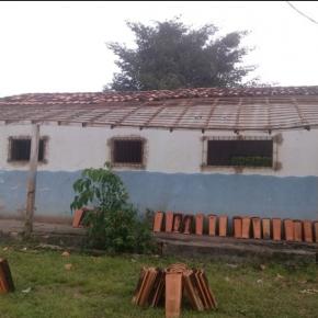 Notícias sobre a reforma do prédio que abrigará o Centro de Ciência e Saberes na comunidade quilombola de Pau Furado, Salvaterra, Arquipélago de Marajó