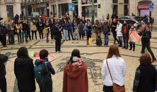 """""""Sangue indígena, nenhuma gota a mais"""" em Lisboa, Manifesto 31 de Janeiro"""