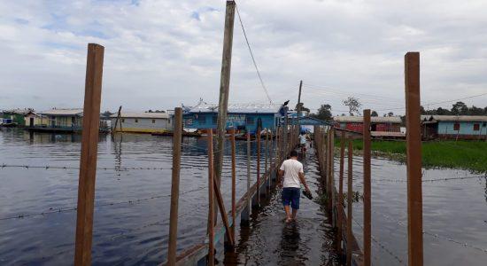 Encontro das águas e a cerca de arame farpado: no encontro do Purus e o Ituxi