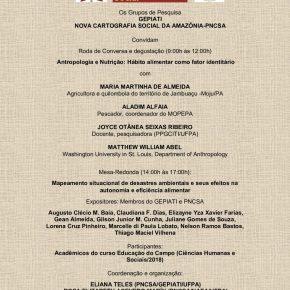 Convite do GEPIATI e PNCSA para Roda de Conversa e Degustação e Mesa-Redonda em 05 de Março de 2020