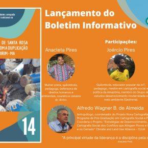 Lançamento de Boletim Informativo - 30/10/2020 as 14h00