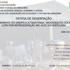 Defesa de Dissertação de Dime Alexandre Londono Gomes - 21/12/2020