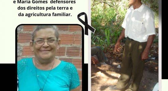 Nota de pesar - José Bertoldo e Maria Gomes